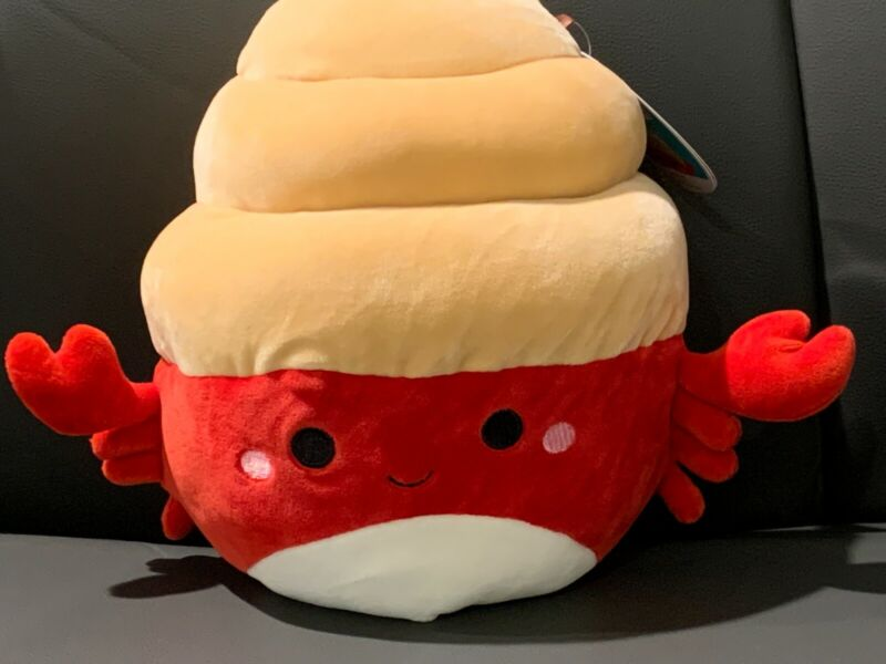 """Kellytoy Squishmallow 8"""" Indie Red Hermit Crab NWT"""