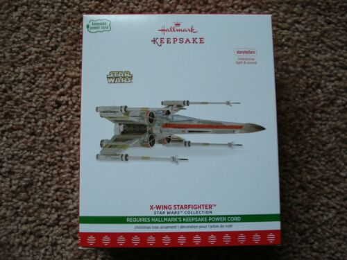 Star Wars Hallmark Keepsake Ornament Storytellers 2017 X-Wing Starfighter TESTED
