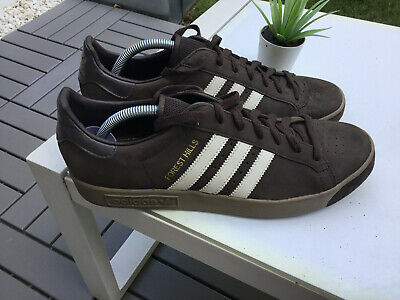 MENS GENUINE BROWN SUEDE ADIDAS FOREST HILLS UK SIZE 10 2006 MODEL