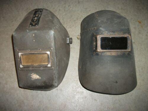 Lot of 2 Very Old Vintage Welding Helmets Steampunk