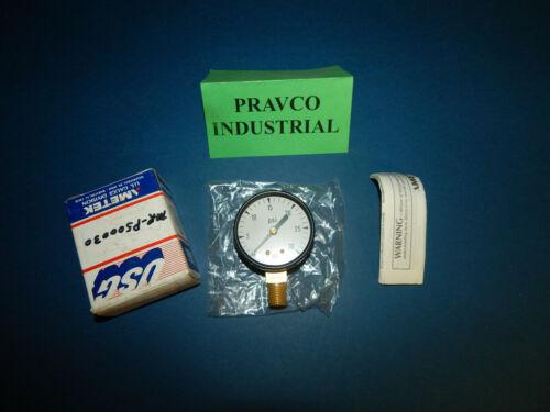 """Ametek US Gauge 046644 0-30 PSI Pressure Gauge .25"""" NPT 2"""" Diameter"""