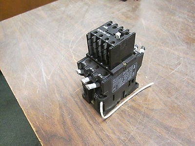 Abb Contactor B30 120v Coil 45a 600v W Aux Contact Block Used