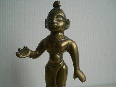Small Indian Bronze or Brass Deity Goddess --  Radha