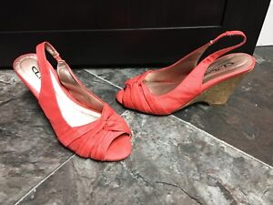 Salmon colored shoes
