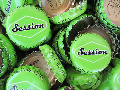 100 ( Light Green Session Pilsner ) Beer Bottle Caps (No Dents). Free Shipping