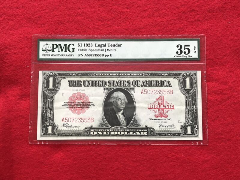 FR-40 1923 Series $1 Red Seal US Legal Tender Note *PMG 35 EPQ Choice Very Fine*
