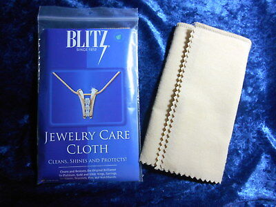 BLITZ Jewelry Care Polish Cloth Gold Silver Platinum NonToxic USA Qty - Care Polish Cloth