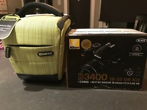Nikon D3400 18-55 mm NEW IN BOX w/Camera Bag