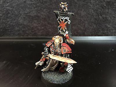 Warhammer 40k Space Marines Black Templars Captain fully painted