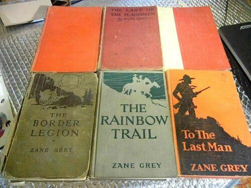 Lot of 6 Vintage Zane Grey Hardcover books