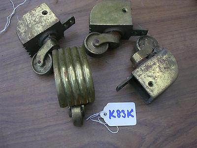 SET OF 4 RECLAIMED BRASS CASTORS