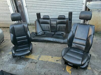 Genuine BMW E46 Coupe Full Black M-Sports Leather Seats Complete Interior Bucket