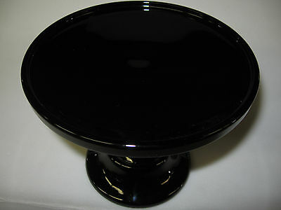 Black amethyst Glass cake serving stand / plate platter pedestal purple wedding