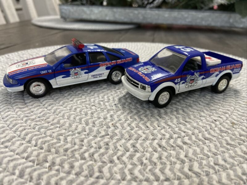 United States Coast Guard Diecast 143 Scale S 10 Pick Up And Chevy Impala