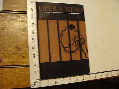 Vintage OPERA NEWS--FEBRUARY 13, 1960 FIDELIO