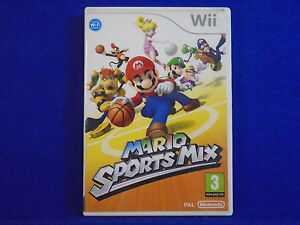 wii MARIO SPORTS MIX Game All The Mario Stars MINT DISC Nintendo PAL