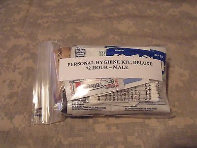 Emergency/Survival Personal Hygiene Kit, Deluxe Male, 72+ Hour 25+ Items