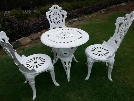 Garden table and three chairs Hope Island Gold Coast North Preview