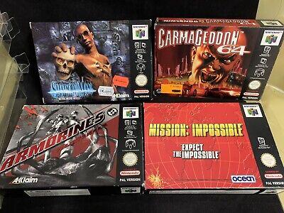 Nintendo 64 N64 - Shadow Man Carmageddon Armorines Mission Impossible -Neuwertig