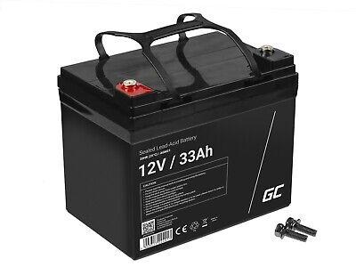 Batería Gel de plomo AGM 12V 33Ah Recargable para Moto eléctrica Carros...