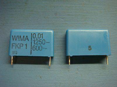 5 Wima Fkp1 .0112505 0.01uf 1250v 5 22.5mm Polypropylene Pp Film Capacitor
