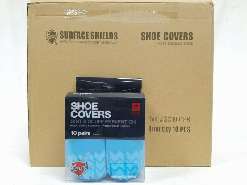 Case of 100 Pairs Surface Shields Shoe Covers SC3001PB Light Weight