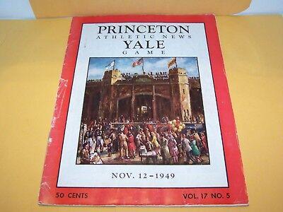 1949 PRINCETON vs YALE COLLEGE FOOTBALL PROGRAM GAME TIGERS BULLDOGS IVY LEAGUE