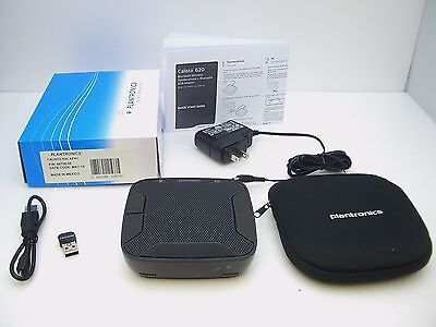 PLANTRONICS CALISTO 620 P620 Bluetooth Wireless USB Speakerphone with Carry Case