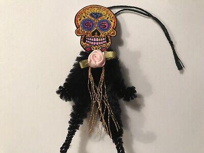 Halloween sugar skull ornaments, catrina doll vintage image gift tags, item# 34