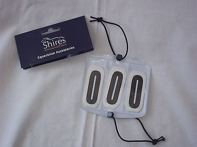 Horse Riding Competition Number Kit Secure to Arm or Bridle - Black - by Shires