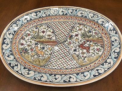 Coimbra Portugal Hand Painted Ceramic Serving Platter