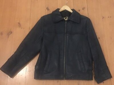 Black Leather Jacket Size Small