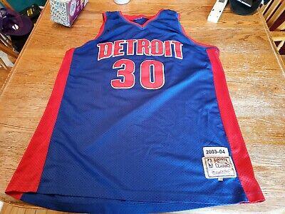 Rasheed Wallace Detroit Pistons Hardwood Classics Throwback NBA Jersey 58, used