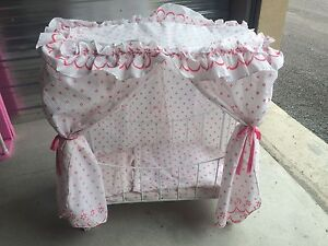 Pink Barbie crib for dolls