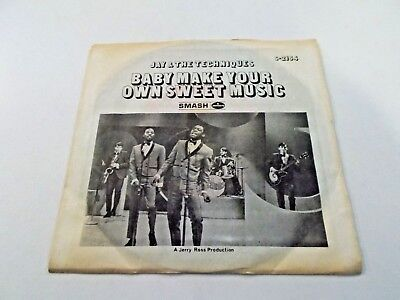 Jay & The Techniques Make Your Own Sweet Music 45 1968 Picture Vinyl Record - Make Your Own Record