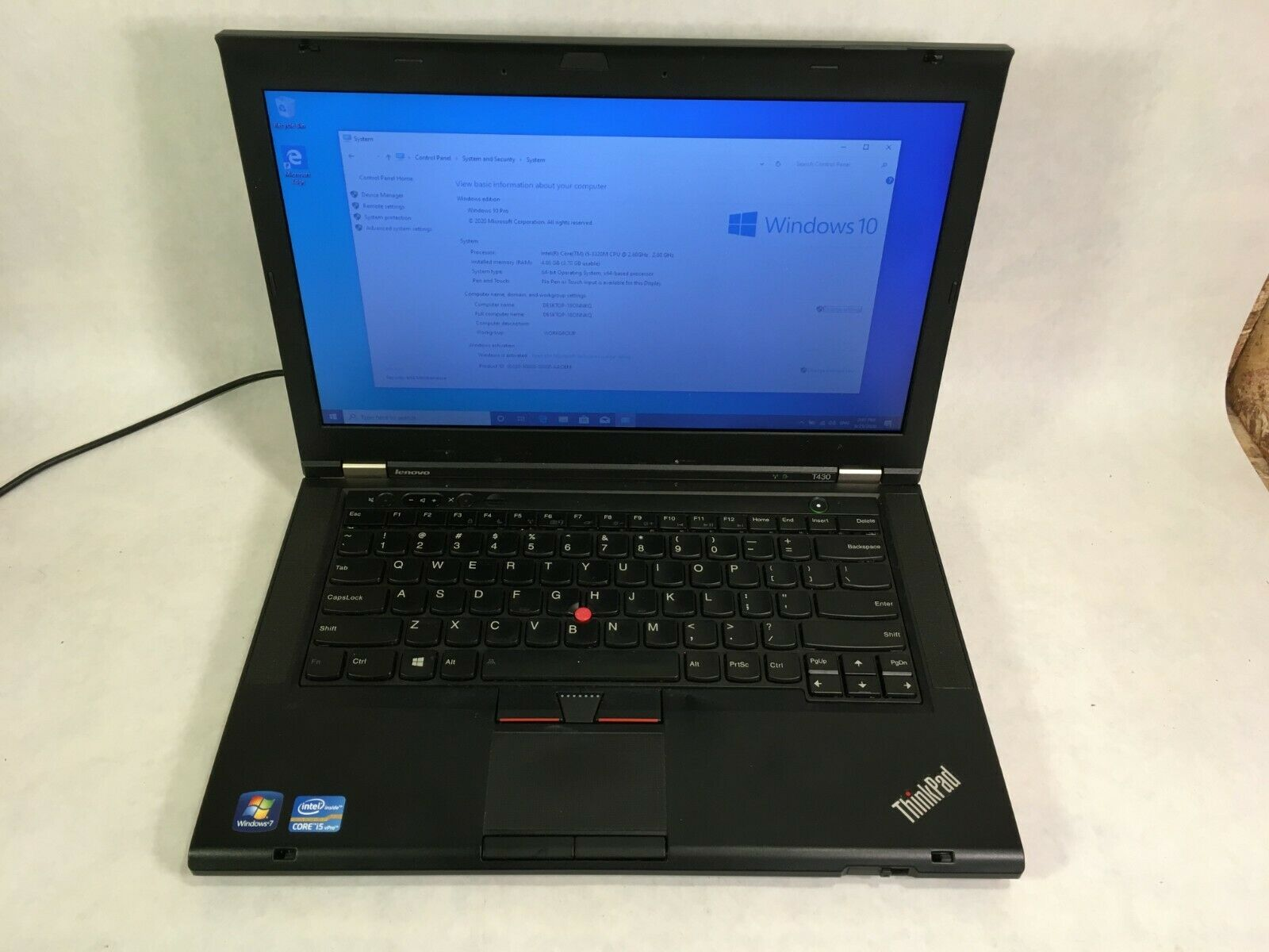 "Laptop Windows - Lenovo ThinkPad T430 14"" Laptop Intel Core i5 2.6GHz 4GB 250GB Windows 10"
