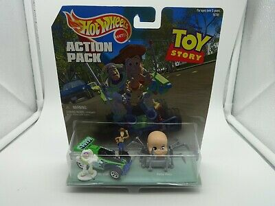 """Hot Wheels Action Pack """"Toy Story"""" with RC Car, Baby Face, Buzz & Woody - MIB"""
