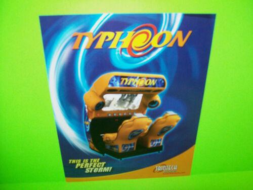 Triotech TYPHOON Original NOS Video Arcade Game Simulator Promo Sales Flyer