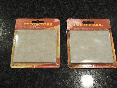 NEW protectors for your chairs on a wood floor  2 packages not cut