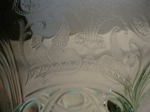 RARE Sphinx fruit bowl green by Lancaster div. of Hocking depression glass 1930