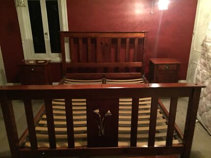 Wooden Bed Frame Great Condition