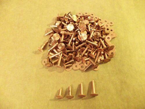Copper Rivets & Burrs Assorted 9 Gauge SCA ( 1 Pound)