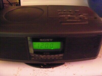 Sony ICF-CD810 Stereo CD Player Digital Dual Alarm Clock AM FM Radio Tested 1998