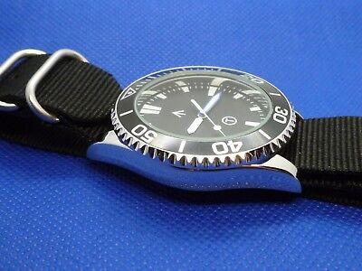 Time Arrow Watch Co. Submariner, military, Miyota movement, blue hand