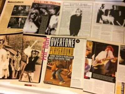 Sonic Youth, Lot of SIX Full Through Four Page Vintage Clippings