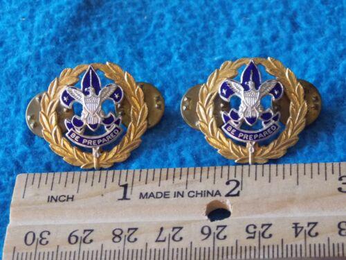 Vintage - Boy Scout Council COMMISSIONER Collar Pin Set