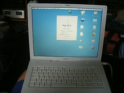"Apple iBook G4 14"" 1.42 GHz bundle with charger and OS, original box, working"