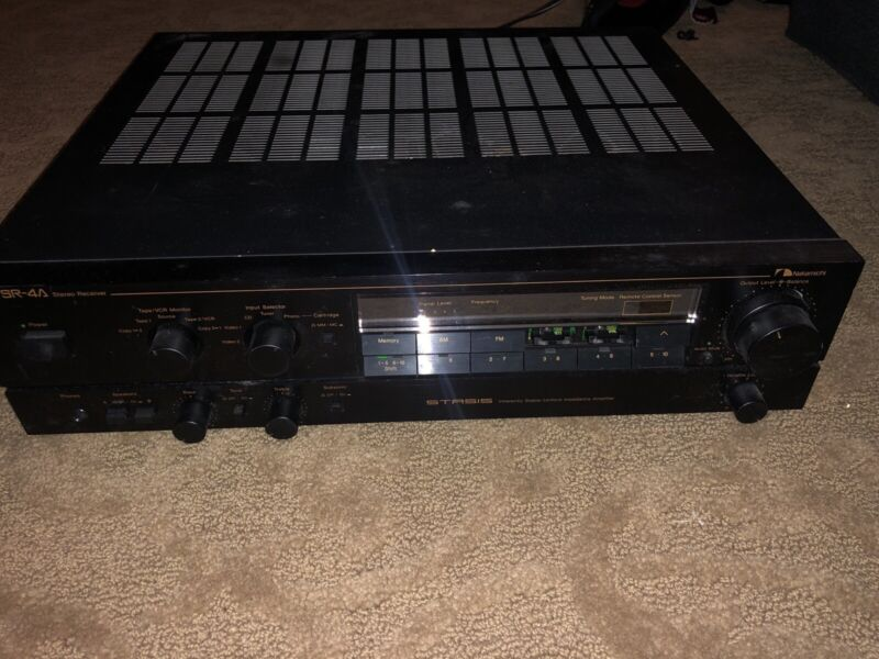 Vintage Nakamichi SR-4A Stereo Receiver STASIS Amplifier MADE JAPAN