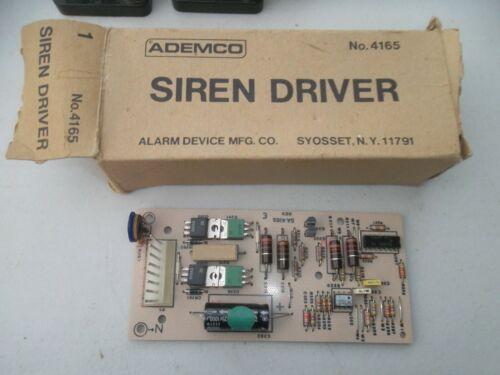 NOS New Old Stock Ademco Alarm Device Mfg Co. 4165 Siren Driver