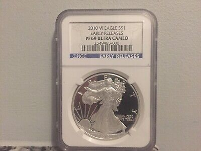 2010 W PROOF SILVER EAGLE NGC PF 69 ULTRA CAMEO Early Release